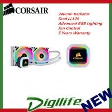 Corsair Hydro Series H100i RGB PLATINUMSE 240mm Radiator Dual LL120 RGB PWM FANS