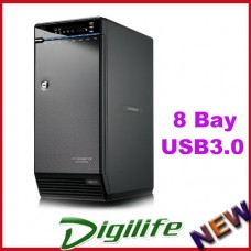 Hotway 8 Bay HDD Enclosure USB 3.0 e-SATA eSATA Non-RAID up to 64TB