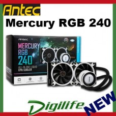 Antec MERCURY 240 RGB Liquid CPU Cooler Efficient PWM Radiator Fan,Graphite Bear