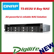 QNAP TS-853U, NAS, 8 BAY(NO DISK), 4GB, CELERON 2.0GHz, USB, GbE(4), 2U, 2YR