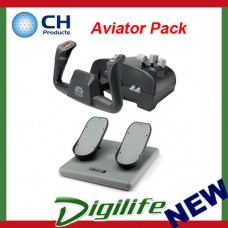 "CH Products ""Aviator Pack"" For PC & Mac (Incl USB Yoke & Pedals) CH-AVIATOR"