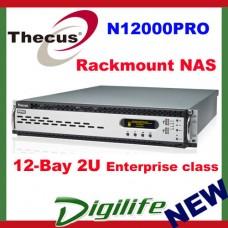 """Thecus N12000PRO Rackmount NAS 12 Bay 3.5"""" Hot-swap, Max 72TB, RAID, 2 x GbE LAN"""