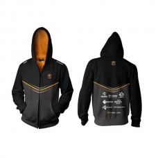 Fnatic Black 4XL Player Zipped Hoodie 2014
