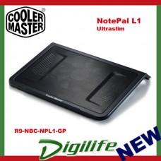"""Cooler Master NotePal L1 Ultraslim Notebook Cooler up to 17"""" - R9-NBC-NPL1-GP"""