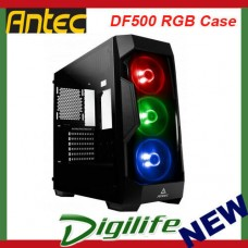 Antec DF500 RGB Case Tempered Glass RGB Control Button 2xUSB 3.0 Front Ports