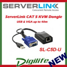 ServerLink CAT 5 KVM Dongle - USB & VGA up to 40m SL-C5D-U