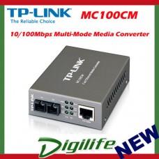 TP-LINK 10/100Mbps RJ45 to 100Mbps multi-mode SC fiber Converter MC100CM
