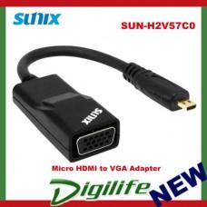 Sunix Micro HDMI to VGA Adapter (Active Controller) SUN-H2V57C0