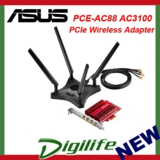 ASUS PCE-AC88 Dual-band 4x4 AC3100 PCIe Wireless Adapter PCI Express