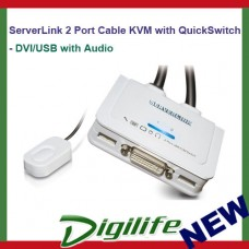 ServerLink 2 Port Cable KVM with QuickSwitch -DVI/USB/Audio SL-271-D 1920x1200