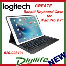 "Logitech Create Keyboard Case with Smart Connector for iPad Pro 9.7"" - Black"