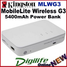 Kingston MLWG3 MobileLite Wireless G3 SD Card USB Flash Reader 5400mAh Battery