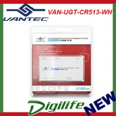 Vantec External USB 3.0 All-In-One Card Reader/Writer -- White