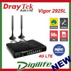 Draytek Vigor 2925L Multi-WAN LTE Router 2xSIM/2xGbE WAN/5xGbE LAN/VPN DV2925L