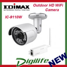Edimax Outdoor 720p HD WiFi Surveillance Camera Night Vision IC-9110W CCTV