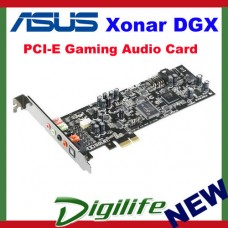 Asus Xonar DGX PCI-E Gaming Sound Card, 5.1 Channel, Dolby, 3D, Headphone AMP