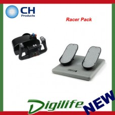 "CH Products ""Racer Pack"" For PC & Mac (Inc USB Eclipse Yoke & Pedals) CH-RACER"