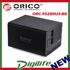 ORICO 2 Bay 3.5'' USB3.0 SATA HDD RAID External Enclosure - 9528RU3-BK