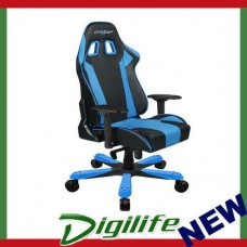 DXRacer KS06 Series Gaming Chair, Neck/Lumbar Support - Black & Blue