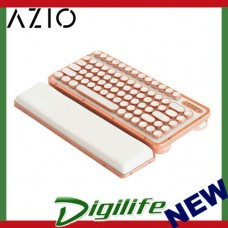 AZIO Posh Retro Compact Keyboard White Leather / Copper-Brushed Frame