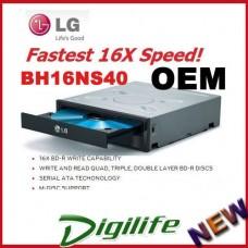 LG BH16NS40 Blu-Ray 16X Drive Burn Bluray CD/DVD Disc SATA upgrade to BH16NS55
