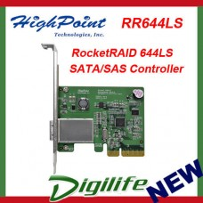 HighPoint RocketRAID 644LS Low Profile PCIE SATA/SAS Controller RR644LS Mini SAS