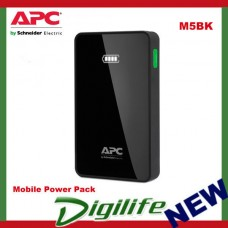 APC Mobile Power Pack, 5000mAh Li-polymer, Black - M5BK