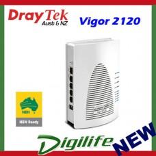 DrayTek Vigor 2120 Gigabit Router w/2 x Gigabit LAN & 2 x VPN tunnels DV2120