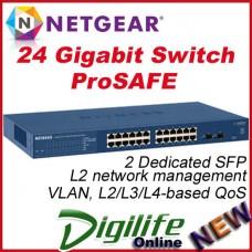 Netgear GS724T v4 Prosafe 24 Port Gigabit Smart Switch 2 SFP