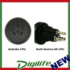 InLine Australia to North America US 3-pin Power Adapter Plug PA-1235