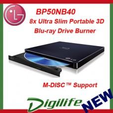 LG 8x USB Portable External Slim Blu-ray Burner Drive BP50NB40