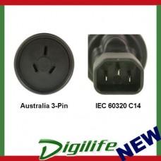 InLine AU to IEC 60320 C14 Power Plug Adapter  PA-3235