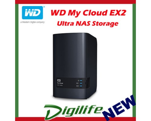 Western Digital WD My Cloud EX2 Ultra 20TB 2-Bay NAS Personal Cloud Storage