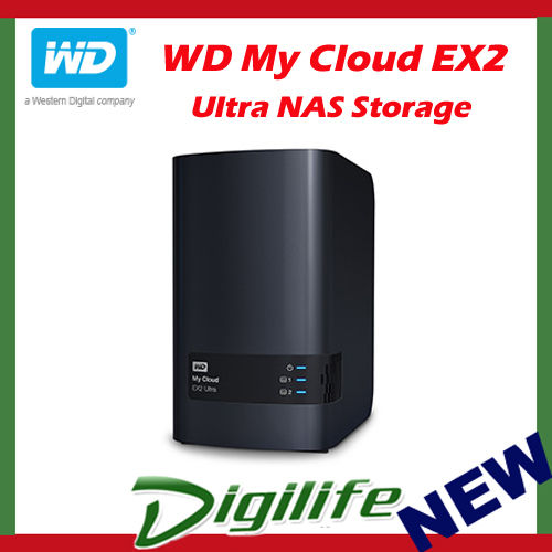 Western Digital WD My Cloud EX2 Ultra 20TB 2-Bay NAS Personal