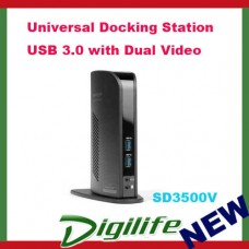 Kensington SD3500v USB 3.0 Universal Docking Station with Dual Video for Win MAC