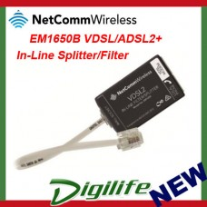 NetComm EM1650B VDSL/ADSL2+ In-Line Splitter/Filter Australian Certified by NBN