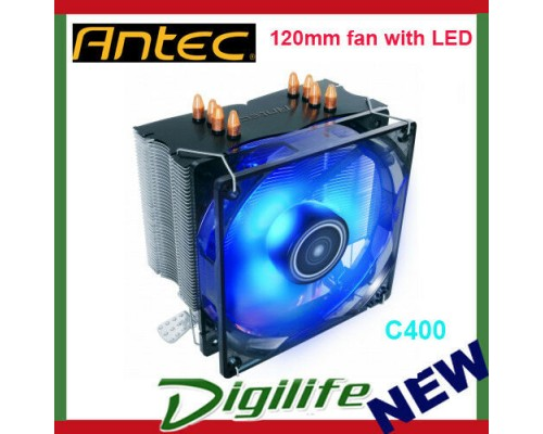 Antec CPU Air Cooler C400 120mm fan with LED with Copper Coldplate AMD