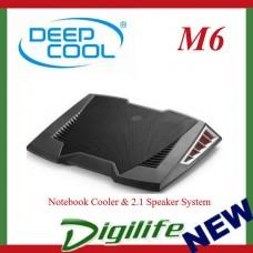 Deepcool M6 Black Notebook Cooler & 2.1 Speaker System