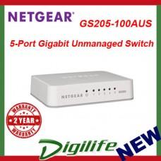 Netgear GS205 5 Port Gigabit Desktop Switch