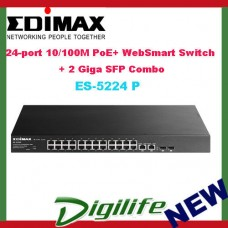 Edimax 24-port 10/100M PoE+ WebSmart Switch + 2 Giga SFP Combo (400W)
