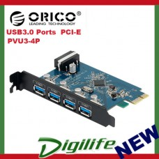 ORICO PVU3-4P Desktop PCI-E 4 Port High Speed USB 3.0 PCI Express Card