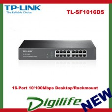 TP-LINK 16-Port 10/100Mbps Desktop/Rackmount Switch - TL-SF1016DS