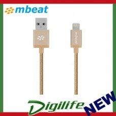 "mbeat® ""Toughlink"" Gold 1.2m Metal Braided MFI Lightning Cable MB-ICA-GLD"