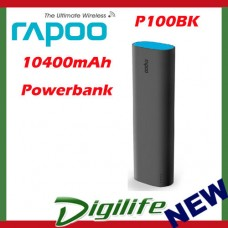 Rapoo P100 10400mAh Power Bank P100BK Black Fast Charge