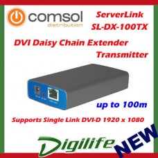 ServerLink DVI Daisy Chain Extender over Cat 5 up to 100m Transmitter 1080p