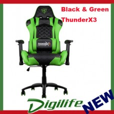 AEROCOOL ThunderX3 TGC12 Series Gaming Chair - Black/Green