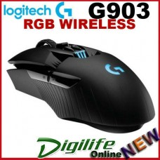 Logitech G903 RGB Tunable USB Optical Lightspeed Wireless/Wired Gaming Mous