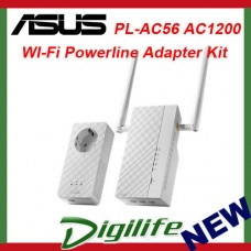 ASUS PL-AC56 1200Mbps AV2 Wi-Fi Powerline Adapter Kit Wireless