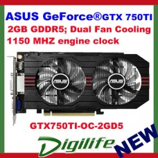 ASUS NVIDIA GeForce GTX 750 TI OC 2GB DDR5 Graphics Card GTX750TI-OC-2GD5