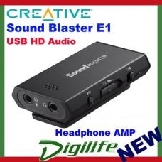 Creative Sound Blaster E1 USB HD Audio Headphone Amplifier